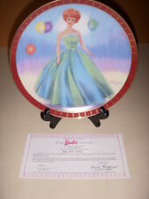 Barbie Porcelain Collector Plates, Lot of 4, Debutante Ball, Midnight Blue ++!
