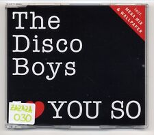 The discoteca Boys Maxi-CD I Love You So - 2-Track incl. Mega Mix MEGAMIX SUPER 3084