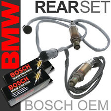 2PC BMW Oxygen Sensor Set Rear/Downstream/Post Left & Right Bosch OEM Plug O2 02