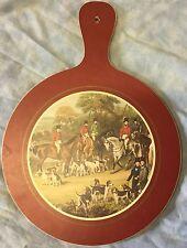Fox Hunt Hunting Burgundy Hot Plate