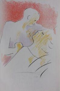 COCTEAU Jean : Au chevet du père - LITHOGRAPHIE Originale #1967 #MOURLOT