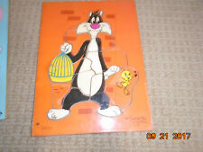 1970s Puzzle Baby Toddler Child Sylvester the Cat & Tweety Bird