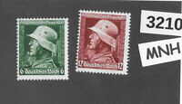 #3210    MNH stamp set / Military Hero's day Sc452-453  1935 Germany Third Reich