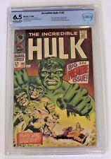 CBCS Graded 6.5 Incredible Hulk No. 102, 1968, ORIGIN RETOLD