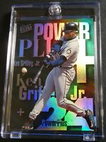 RARE 1997 KEN GRIFFEY JR PINNACLE POWER PLUS FOIL #4 HOF MARINERS (692)