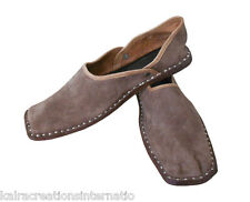 Men Shoes Indian Handmade Leather Brown Traditional Loafers Mojaries US 8