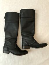 Frye Womens Tall Black Leather Riding Boots Size:7