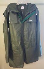 W.K. Backhouse Vintage TYPHOON Hooded Rain Coat Jacket Park RARE One Size