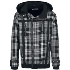 Poizen Industries Grey Tartan/Check Punk/Goth/Emo Warm/Winter Hooded Jacket/Coat