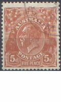 Australia 1932 5d BROWN KGV CofA Wmk Very Fine Used (CTO without gum) SG 130