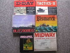 War Strategy Games Avalon Hill, GDW.  BUY ONE YOUR CHOICE!