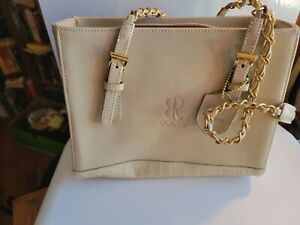 Bellerose Beige Multi-pocket Handbag Gold Chain Handled