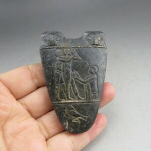 Chinese,jade,Hongshan culture,natural black magnet,Rock paintings, pendant  S5