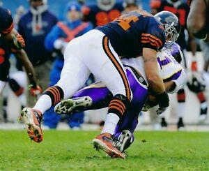 BRIAN URLACHER 8X10 PHOTO CHICAGO BEARS NFL FOOTBALL PICTURE VS VIKINGS