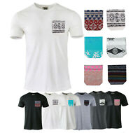 6 Pack Lot Mix Men's Plain Casual Cotton Short Sleeve T-Shirts Pocket Tees S-XL