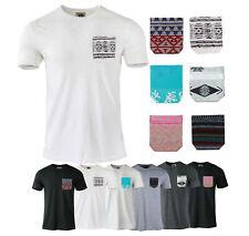 6 Pack Lot Mix Men's Plain Casual Cotton Short Sleeve T-Shirts Pocket Tees S-XL