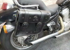 Honda Shadow VT600 Saddle Bags Black Leather