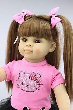"New 16"" Handmade Vinyl Silicone Reborn Baby dolls Lifelike Doll Baby Toys Cathy"