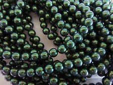 25 Scarabaeus Green Swarovski Crystals Pearls 5810 6mm