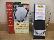 Buena suerte una holística-Hecho a Mano 18 pulgadas Collar de piedras preciosas esotérico además de un libro.
