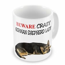 Beware Crazy German Shepherd Lady Funny Novelty Gift Mug