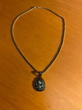 Pendant w/Italy 925 Silver Necklace Vintage 925 Sterling Silver & Abalone