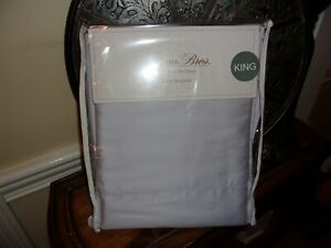 NIP SFERRA Grey Italian Solid Percale Long Staple Cotton 200TC King Sheet Set