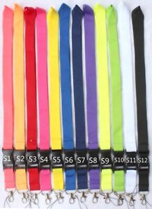 100pc mixed colors neck Lanyard Detachable Keychain Camera Strap Badge ID holder