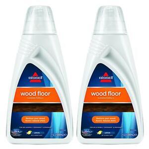 2 x Bissell Wood Floor Cleaning Formula 1L - Lemon Fragrance.