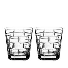 Rogaska Quoin Double Old-Fashioned Glass, Set of 2 NEW