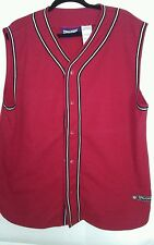 SPALDING BASKETBALL BUTTON UP JERSY, SZ XL, RED