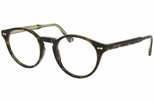 Gucci Gucci-Logo GG0738O 002 Eyeglasses Men's Havana Full Rim Optical Frame 48mm