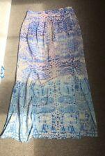 Anthropologie Long Silk Skirt S M