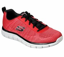 Skechers Red Shoe Men Memory Foam Mesh Sport Soft Comfort Casual Athletic 232081