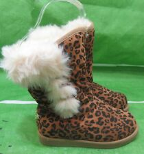 new Cheetah print  cute Ankle youth  TODDLER  Boots  Size 10