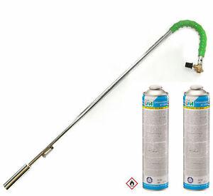 Grodenberg Unkrautbrenner Abflammgerät Unkrautvernichter + 2 Gaskartuschen