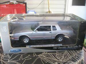 Welly 1:18 1987 Chevrolet Monte Carlo SS Silver / Black Interior Please Read