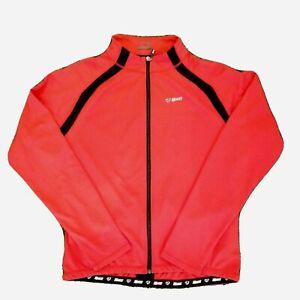 NETTI Men's Size 3XL Red Black Cycling Long Sleeve Top Jersey Shirt Zip Up