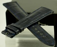 Omega Alligator Strap Band 20 X 16 Navy Blue Tang type Ref CUZ002434 Swiss Made