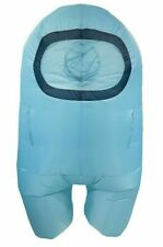 Among Us BLUE Crewmate Halloween Costume Inflatable Suit with Fan Child OSFM