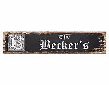 SPFN0315 The BECKER'S Family Name Street Chic Sign Home Decor Gift Ideas