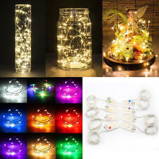 1M  Warm White 10LED String Fairy Lights Battery Operated Xmas Party Room Decor