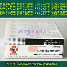 HanYi  Disposable Acupuncture CE Needles Spring Handle with no Tube 100 200 1000