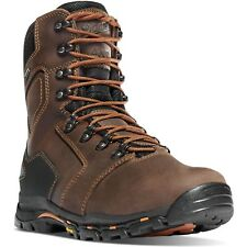 "Danner Mens 13874 Vicious 8"" Brown Insulated 400G Comp Toe NMT Safety Work Boots"