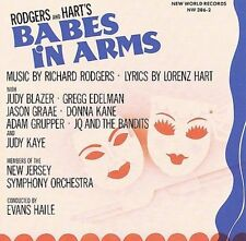 NEW JERSEY SYMPHONY ORCHESTRA/EVANS HAILE/JUDY BLAZER - BABES IN ARMS [1989 CAST