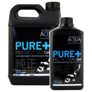 Evolution Aqua PURE+ Filter Start Gel 1L / 2.5L Live Bacteria Pond Fish Koi