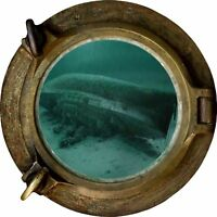 Huge 3D Porthole Ship Wreck under sea View Wall Stickers Film Art Decal 480