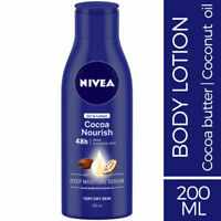 Nivea Cocoa Nourish Body Lotion 200ml Cocoa Butter & Coconut Oil for Dry Skin