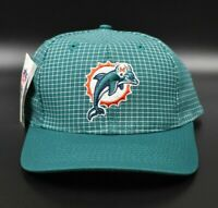 Miami Dolphins Logo 7 Grid NFL Vintage 90's Snapback Cap Hat - NWT