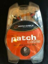 Accu-Cable RC-6 6' dual RCA to dual RCA patch cable NEW